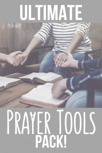 prayer pack tools tips to help you pray to god as a christian to Jesus devotional intercession lists